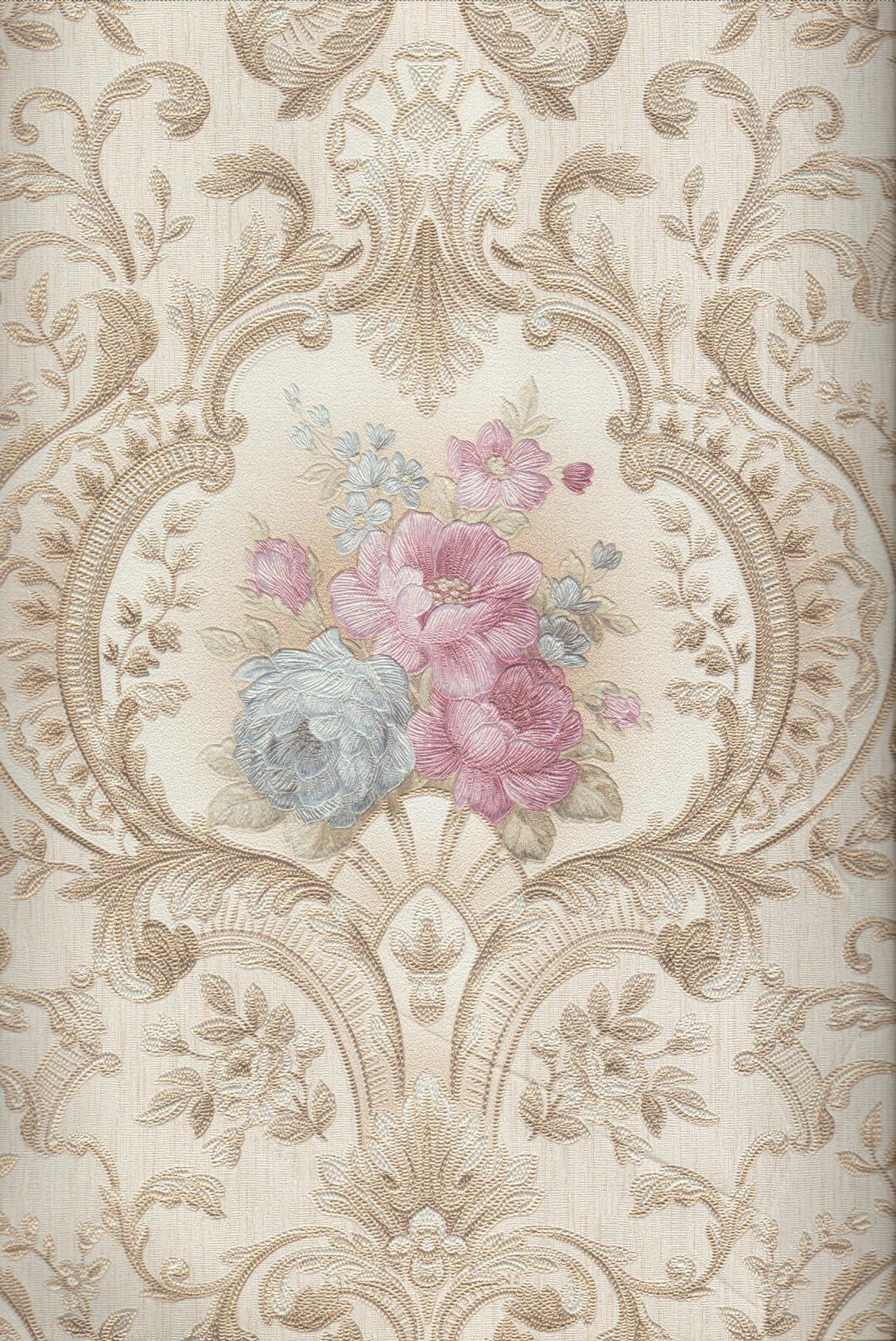 wallpaper   Wallpaper Bunga 4003-2:4003-2 corak  warna