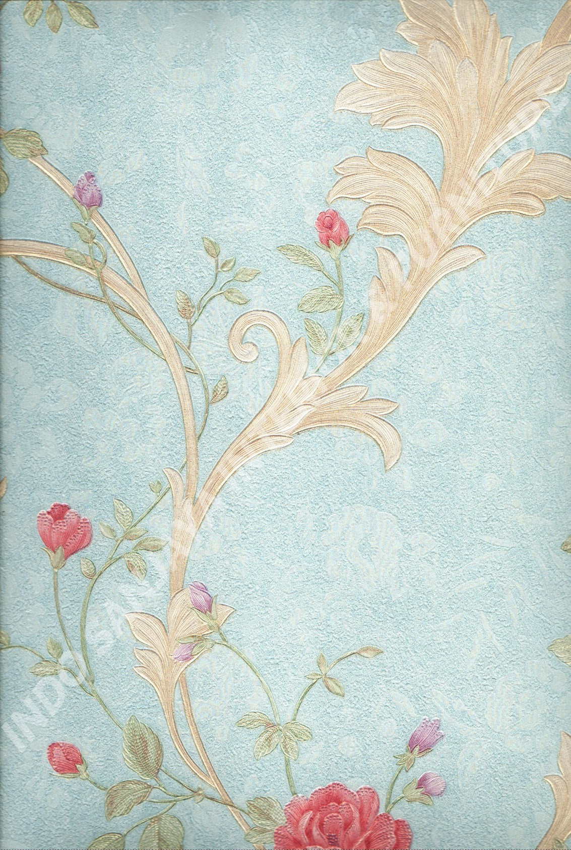 wallpaper   Wallpaper Bunga 51009-4:51009-4 corak  warna