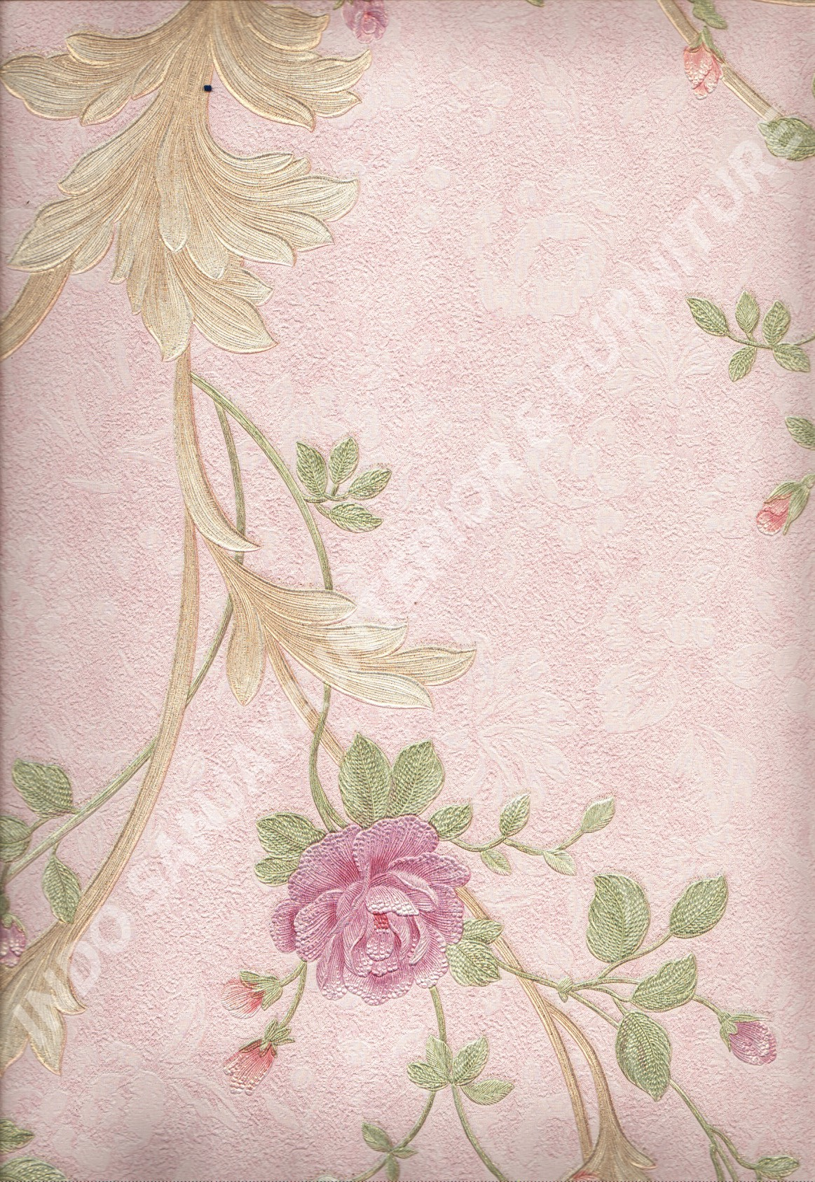 wallpaper   Wallpaper Bunga 51009-3:51009-3 corak  warna