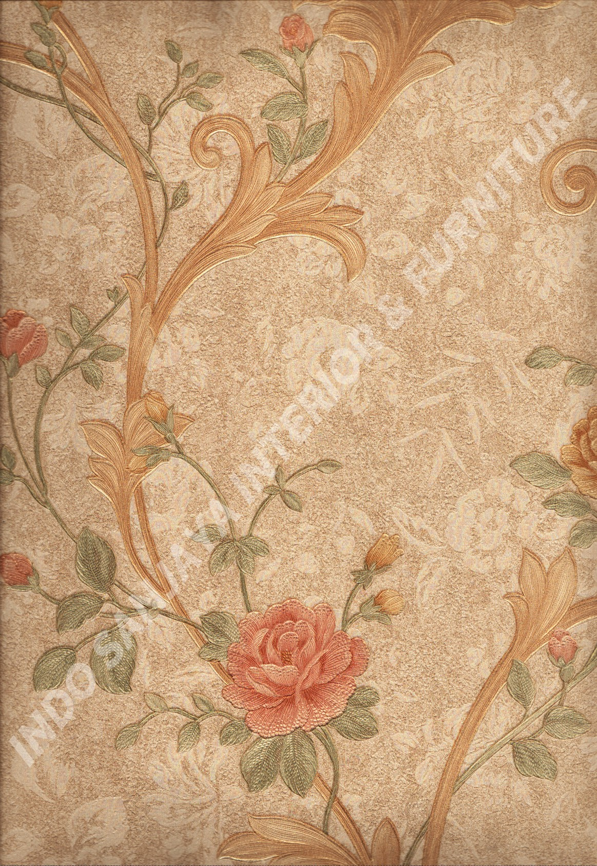 wallpaper   Wallpaper Bunga 51009-5:51009-5 corak  warna