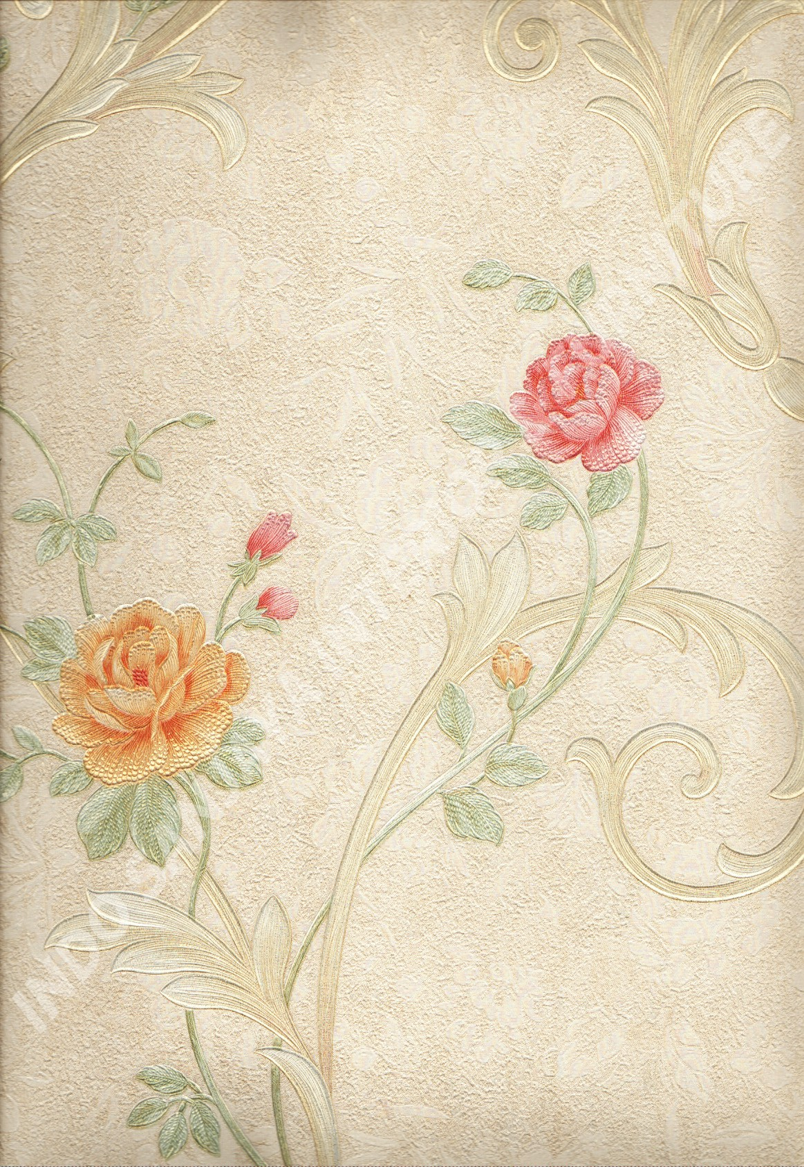 wallpaper   Wallpaper Bunga 51009-2:51009-2 corak  warna