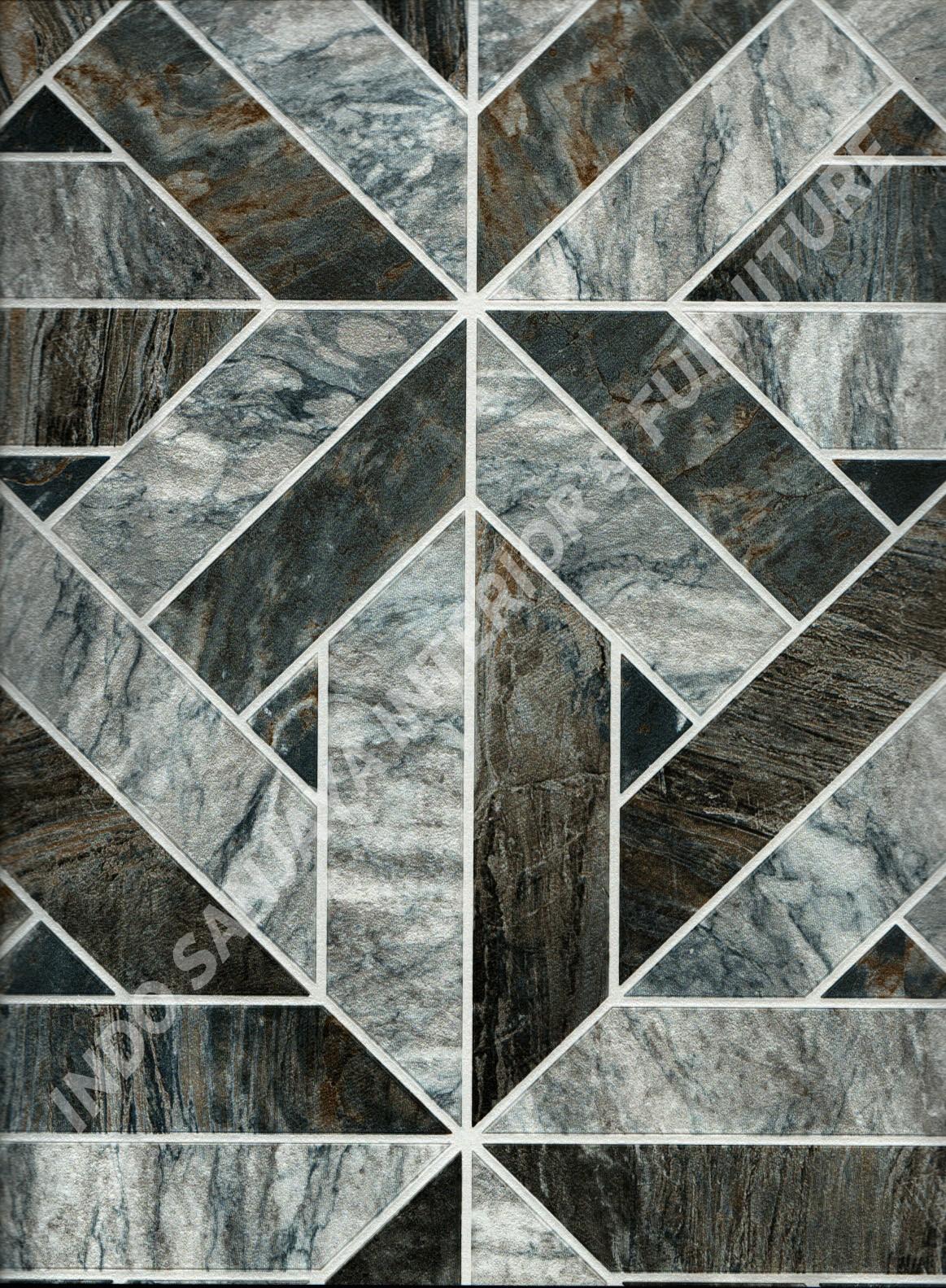 wallpaper ASSEMBLE:40118-3 corak Batu-Batuan ,Minimalis / Polos warna Abu-Abu ,Biru