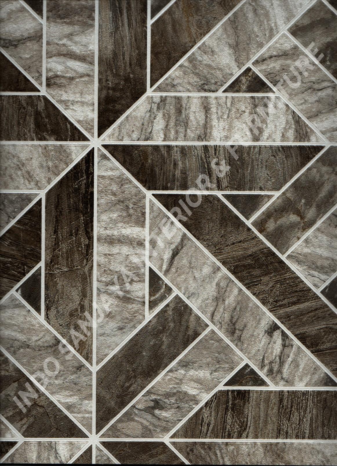 wallpaper ASSEMBLE:40118-4 corak Batu-Batuan ,Minimalis / Polos warna Abu-Abu ,Coklat