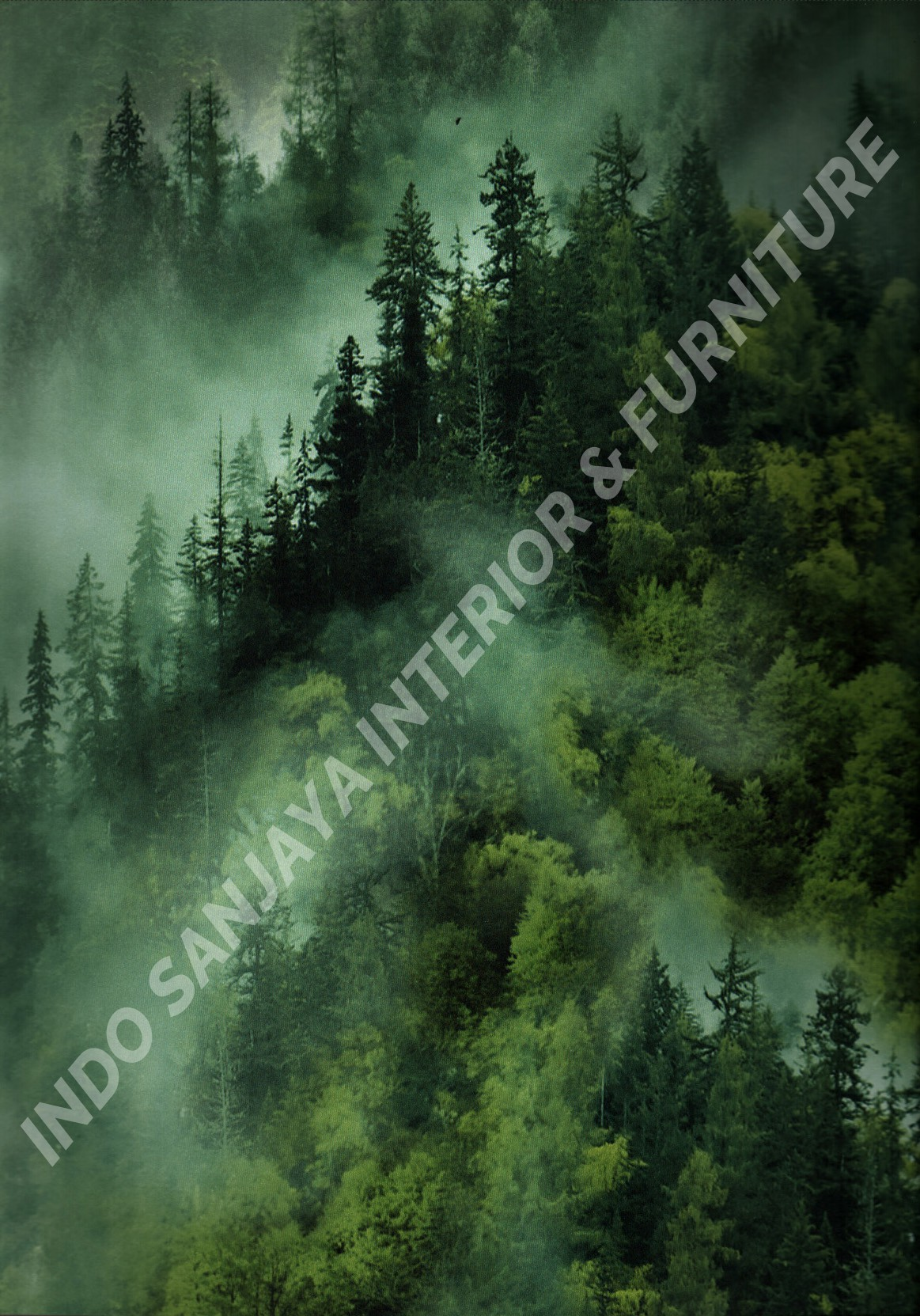wallpaper ASSEMBLE:40113-1 corak Daun - Daunan warna Hijau