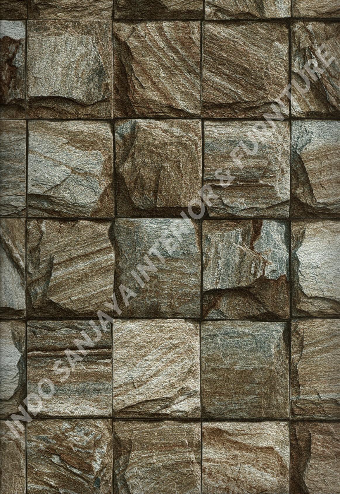 wallpaper ASSEMBLE:40108-3 corak Batu-Batuan warna Coklat