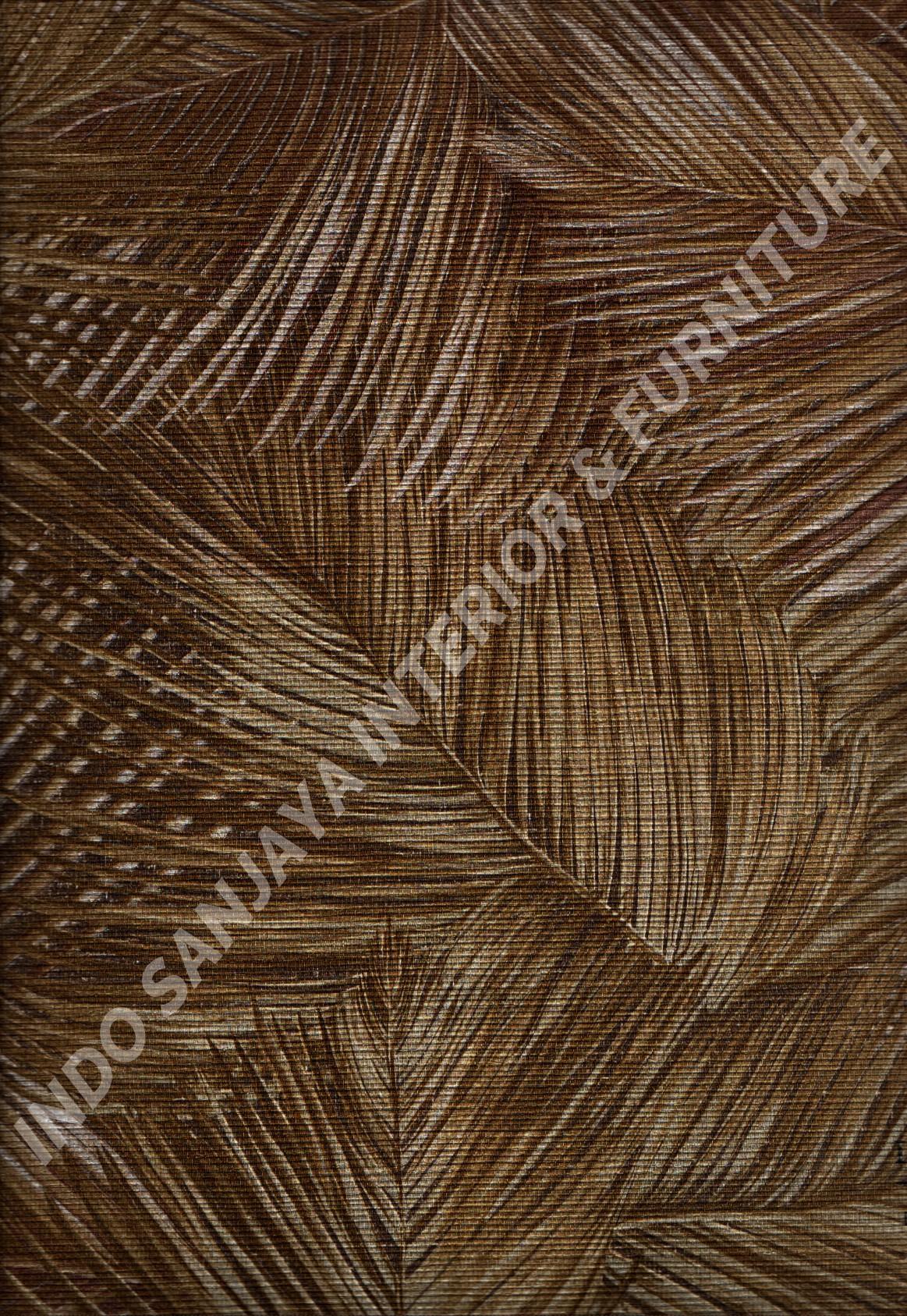 wallpaper ITALIAN STYLE:1817 corak Daun - Daunan warna Coklat