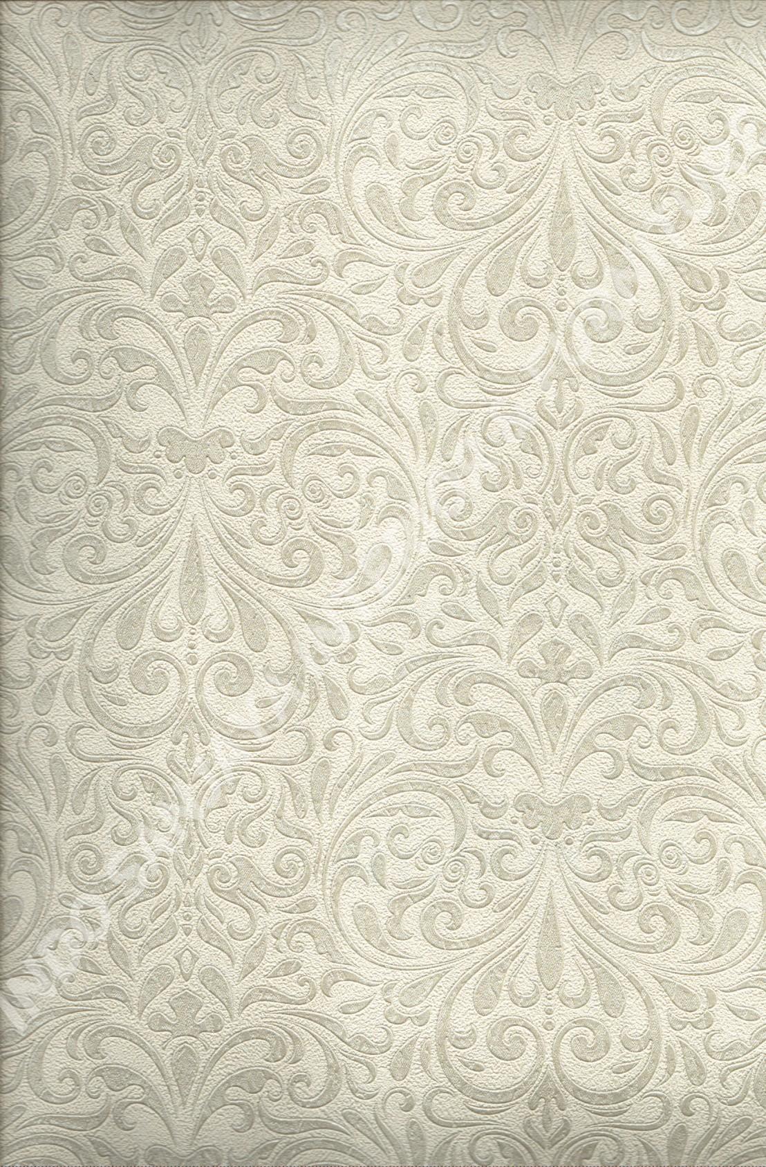 wallpaper BONITA:11032 corak Klasik / Batik (Damask) warna Abu-Abu