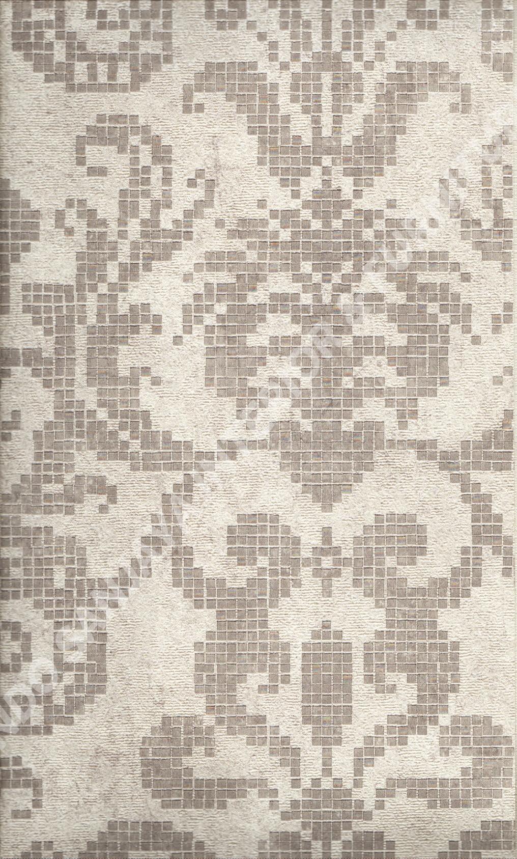 wallpaper MOKO:3025 corak Bunga ,Klasik / Batik (Damask) warna Cream ,Coklat