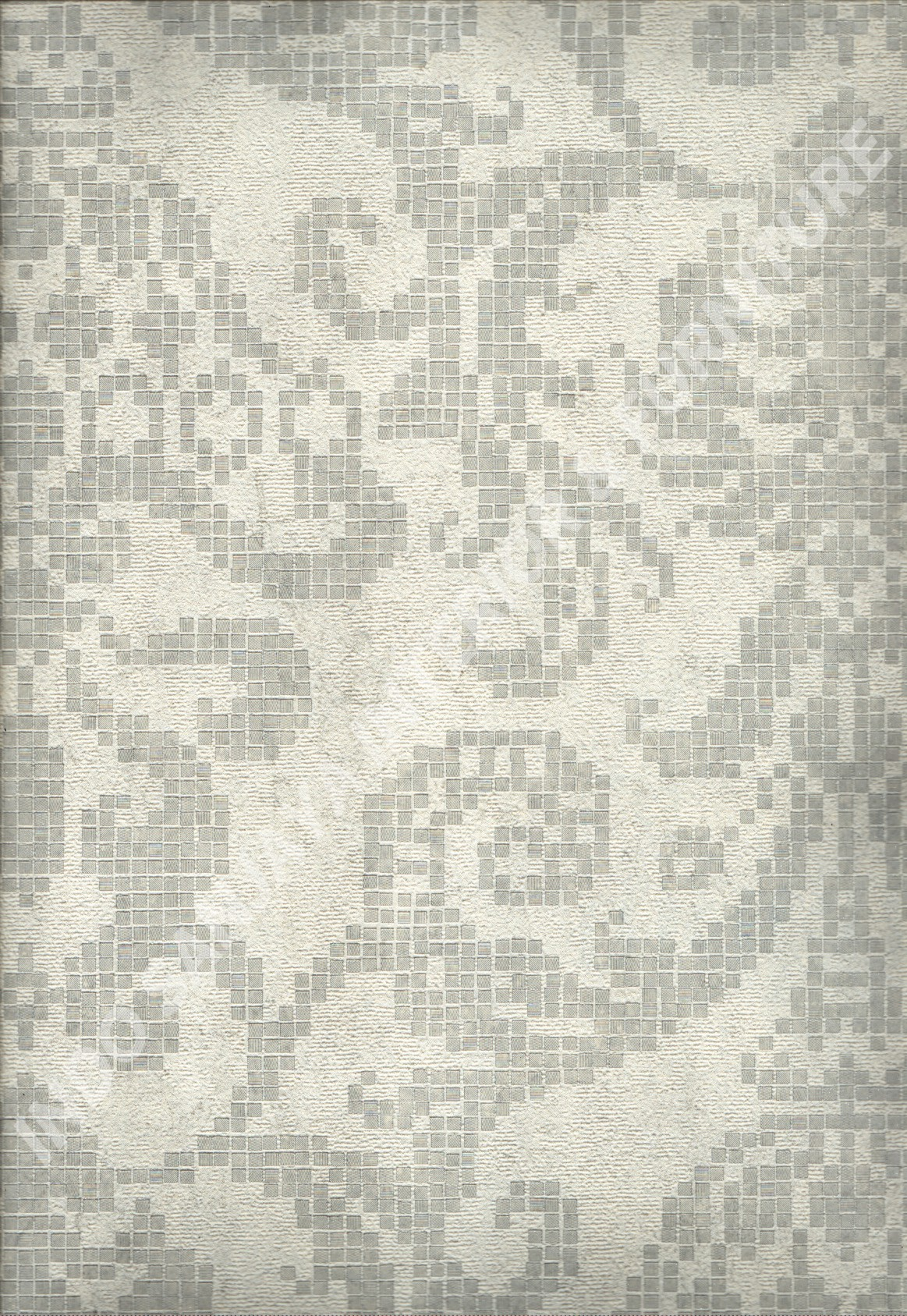 wallpaper MOKO:3026 corak Bunga ,Klasik / Batik (Damask) warna Abu-Abu ,Cream