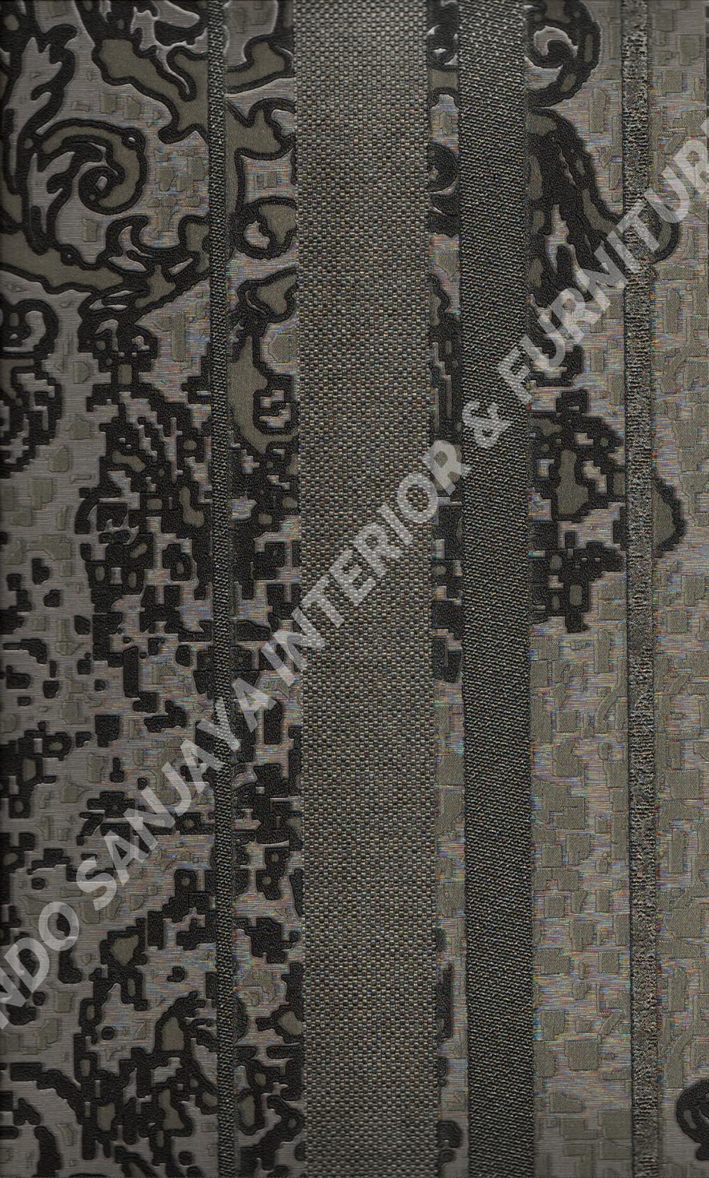 wallpaper MOKO:3072 corak Bunga ,Klasik / Batik (Damask) ,Garis warna Abu-Abu ,Hitam ,Cream ,Coklat