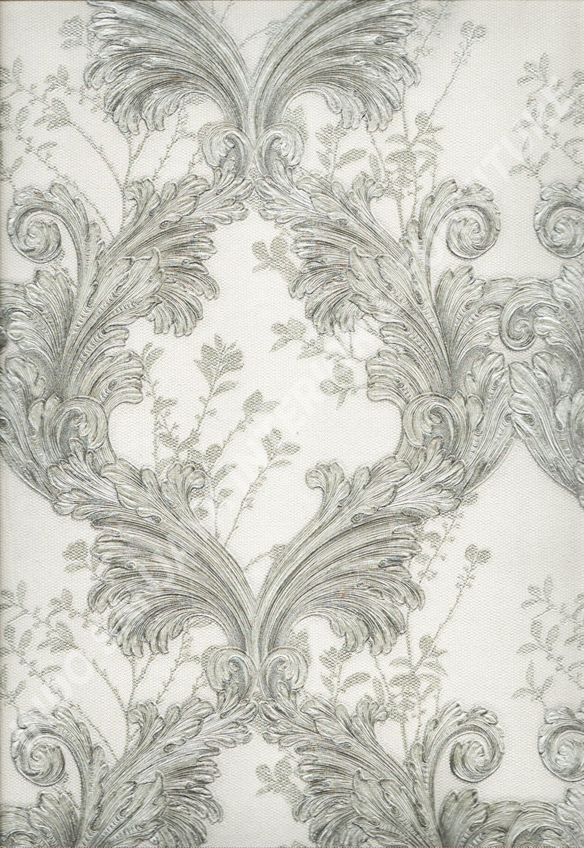 wallpaper LAKIA:87023 corak Bunga ,Klasik / Batik (Damask) warna Abu-Abu ,Cream