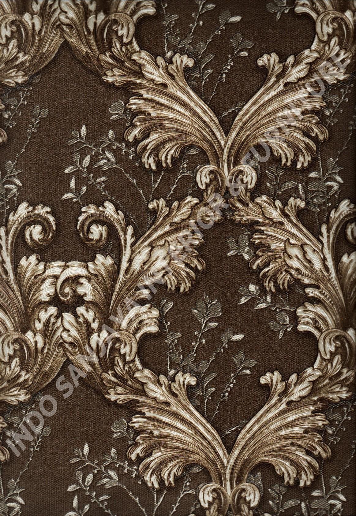 wallpaper   Wallpaper Klasik Batik (Damask) 87025:87025 corak  warna