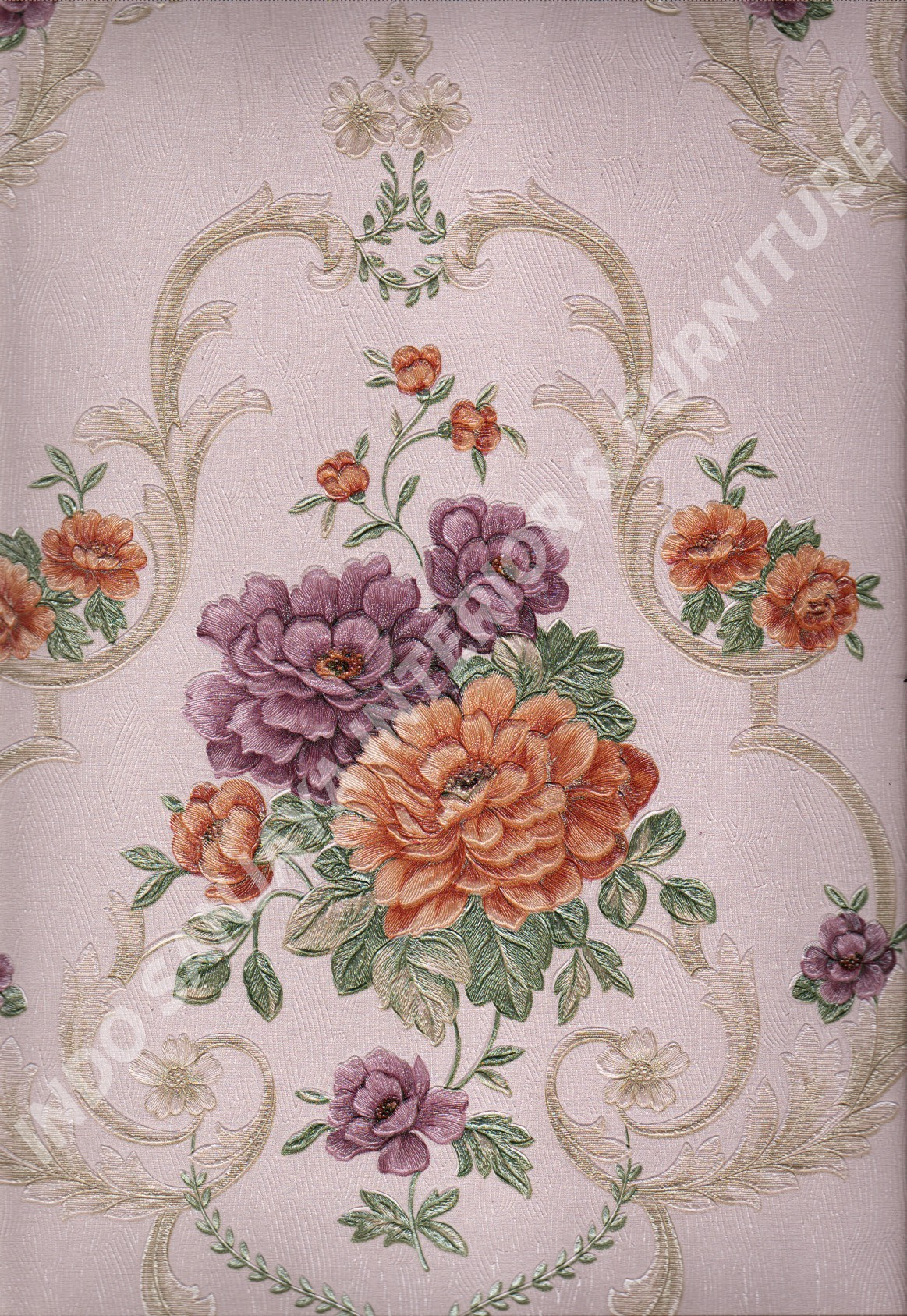 wallpaper   Wallpaper Bunga 8812:8812 corak  warna
