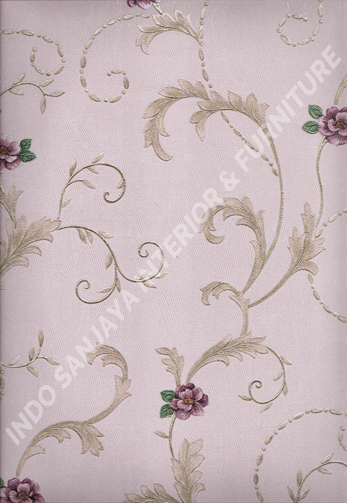 wallpaper   Wallpaper Bunga 8814:8814 corak  warna