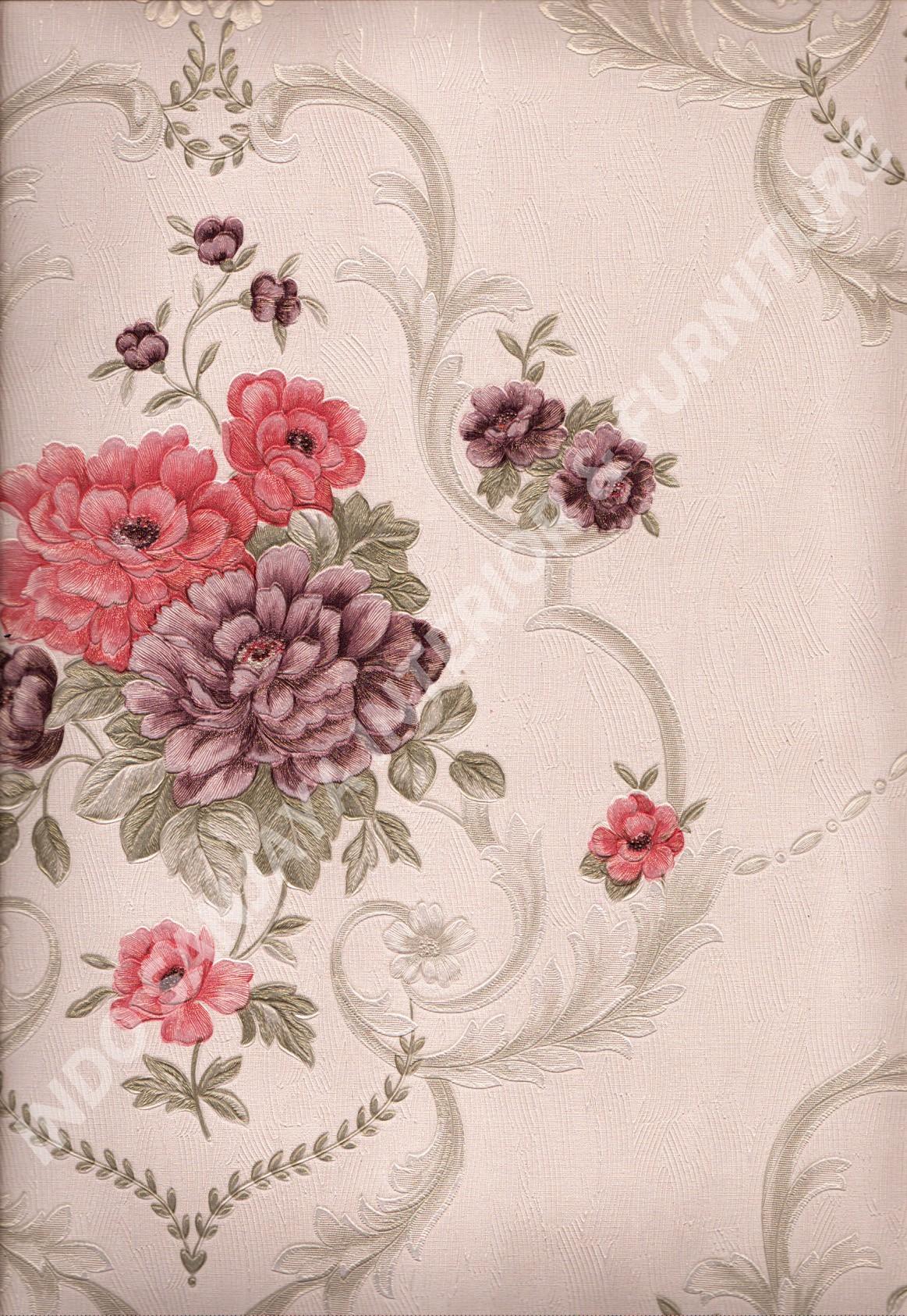 wallpaper   Wallpaper Bunga AY8801:AY8801 corak  warna