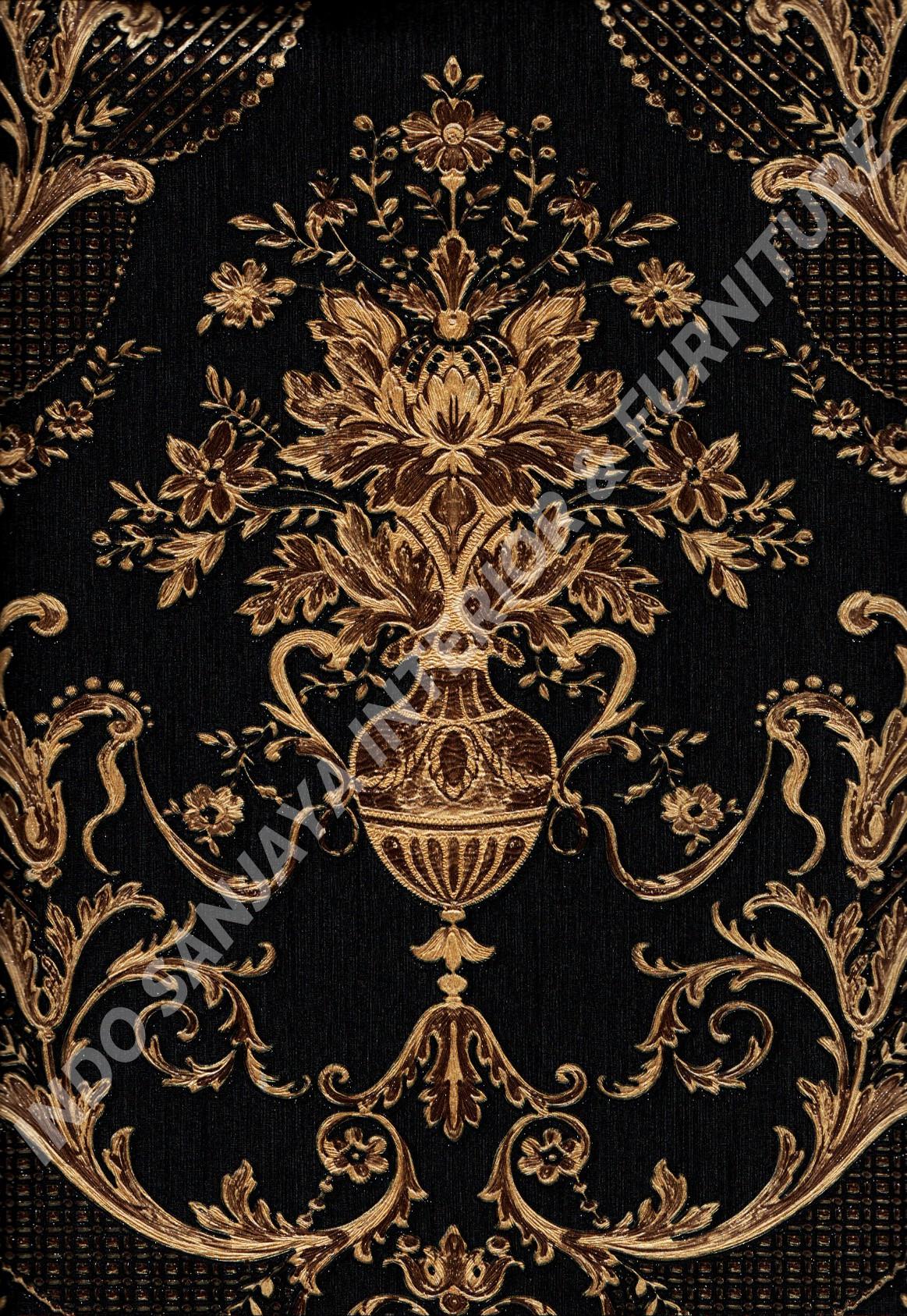 wallpaper   Wallpaper Klasik Batik (Damask) 81085-10:81085-10 corak  warna