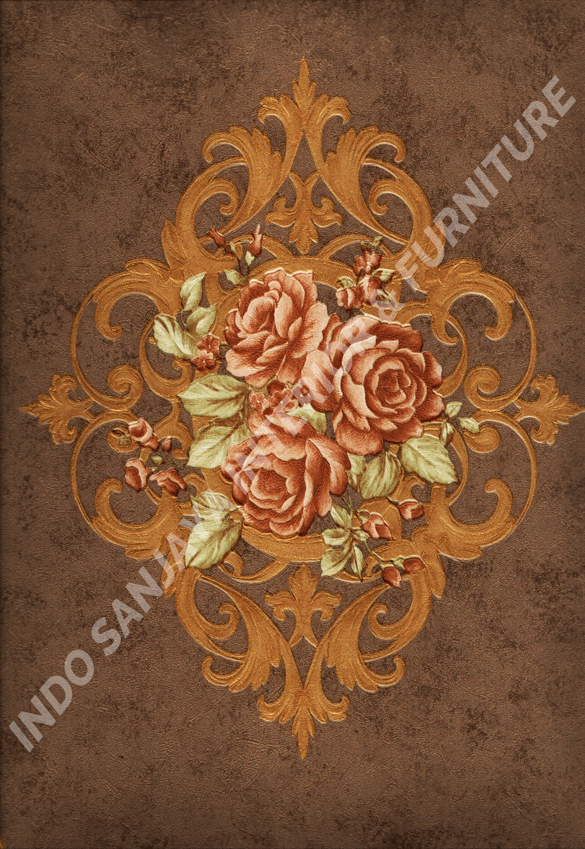 wallpaper   Wallpaper Klasik Batik (Damask) HD-9-16:HD-9-16 corak  warna