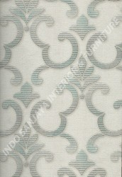 wallpaper SELECTION:10028-1 corak Klasik / Batik (Damask),Minimalis / Polos warna Putih,Abu-Abu,Hijau,Cream