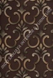 wallpaper SELECTION:10028-2 corak Klasik / Batik (Damask) warna Coklat