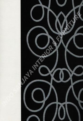 wallpaper PHOENIX:76117-1 corak Bulat / Geometri ,Garis warna Hitam