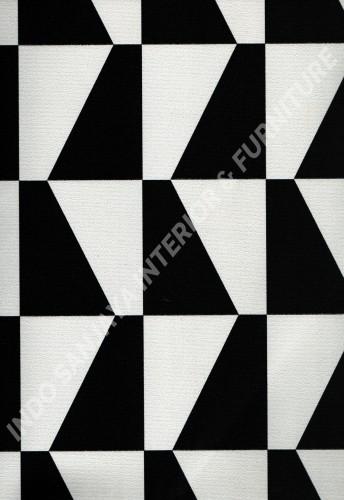 wallpaper PHOENIX:76114-1 corak Modern / 3D warna Putih ,Hitam