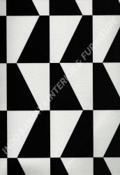 wallpaper PHOENIX:76114-1 corak Modern / 3D warna Putih,Hitam