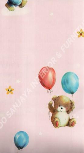 wallpaper   Wallpaper Anak A160303:A160303 corak  warna
