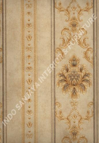 wallpaper MELBOURNE:HR-16165 corak Klasik / Batik (Damask) warna Cream ,Coklat