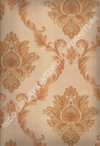 wallpaper   Wallpaper Klasik Batik (Damask) L444-13:L444-13 corak  warna
