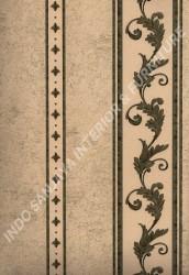 wallpaper LEVANTE:L444-18 corak Klasik / Batik (Damask) warna Hijau,Cream,Coklat