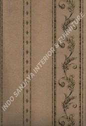 wallpaper LEVANTE:L444-20 corak Klasik / Batik (Damask) warna Coklat