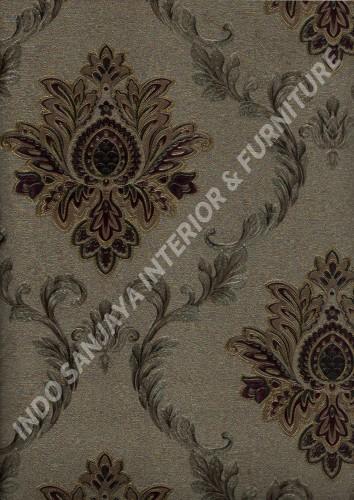 wallpaper   Wallpaper Klasik Batik (Damask) L444-23:L444-23 corak  warna