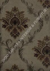 wallpaper LEVANTE:L444-23 corak Klasik / Batik (Damask) warna Abu-Abu,Cream,Coklat
