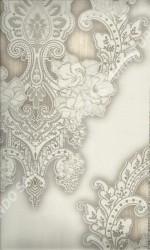 wallpaper LEVANTE:L444-25 corak Klasik / Batik (Damask) warna Abu-Abu,Cream