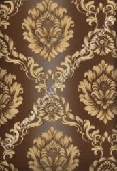 wallpaper LEVANTE:L444-48 corak Klasik / Batik (Damask) warna Kuning,Cream,Coklat