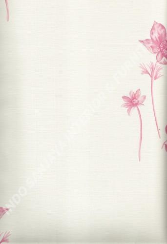 wallpaper LEVANTE:L444-51 corak Bunga warna Cream ,Pink