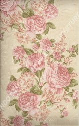wallpaper LEVANTE:L444-52 corak Bunga warna Merah,Cream,Pink