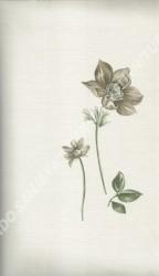 wallpaper LEVANTE:L444-64 corak Bunga warna Putih,Abu-Abu