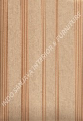wallpaper LEVANTE:L444-77 corak Garis warna Cream,Coklat