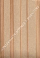 wallpaper LEVANTE:L444-77 corak Garis warna Cream,Coklat