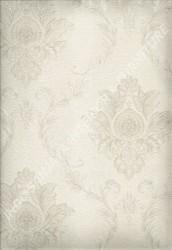 wallpaper LEVANTE:L444-07 corak Klasik / Batik (Damask) warna Putih,Abu-Abu