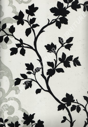 wallpaper DREAM COLOUR:DC882857 corak Bunga warna Abu-Abu