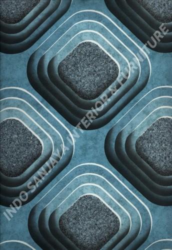 wallpaper   Wallpaper Bulat Geometri 704-3:704-3 corak  warna