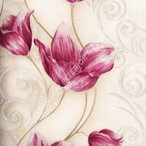 wallpaper   Wallpaper Bunga 318102:318102 corak  warna