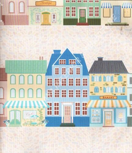 wallpaper Play-House:PH-62 corak Anak warna Biru