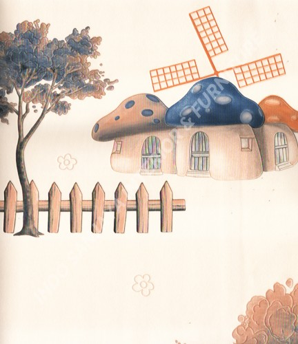 wallpaper SUNSHINE BOY-2:SE1705 corak Anak warna Putih