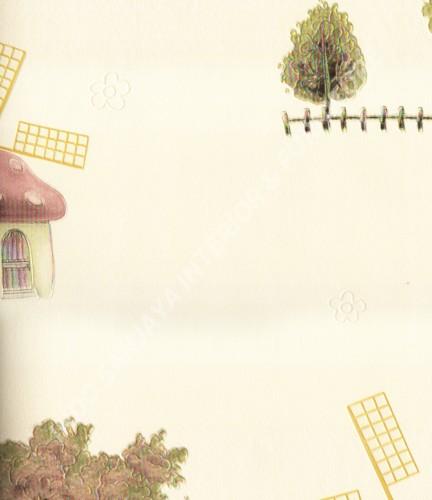wallpaper SUNSHINE BOY-2:SE1703 corak Anak warna Putih