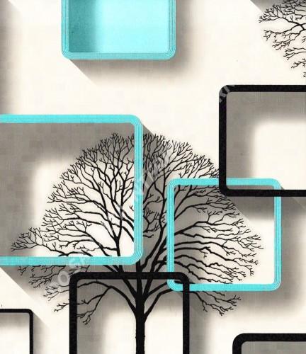 wallpaper TRENZONE:YS-8133 corak Modern / 3D warna Putih