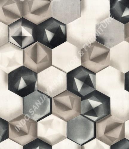 wallpaper TRENZONE:YS-8151 corak Modern / 3D warna Putih