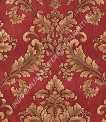 wallpaper   Wallpaper Klasik Batik (Damask) 360007:360007 corak  warna